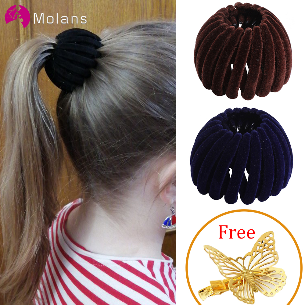 MOLANS Retro Bird Nest Ball Hair Claws For Women Hairpin Girls Headwear Ponytail Holder Hair Grips Ladies Hair Accessories