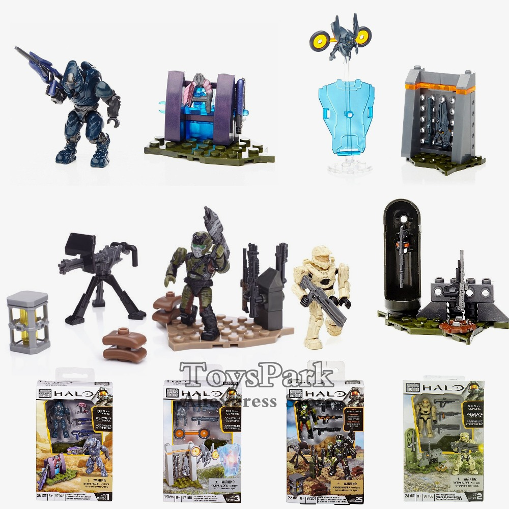 Halo UNSC Forerunner Covenant Weapons Pack Action Figure Toys MEGA BLOKS Build & Combine Set Kit Model Collectible NEW IN BOX image