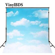 цена на KATE Photography Backdrops 8x8ft Cloud Backdrops Photography Backdrops Children Newborn Backdrop Blue Backgrounds for Studio