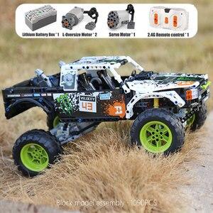 Image 4 - Juguetes técnicos para coches 4X4 fuera de la carretera bloques de construcción modelo Vehile 29256 coche clásico Compatible con Legoing 42099 regalos de navidad