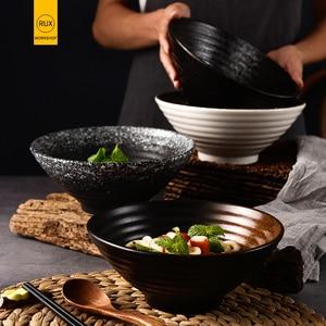 RHE 1000ml,1500ml japońska miseczka ceramiczna miska na makaron o dużej pojemności miska do ryżu dekoracja naczyń domowych