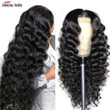 Прозрачный фронтальный парик свободная глубокая волна 13x6 кружевной передний парик предварительно выщипанные кружевные передние человече...