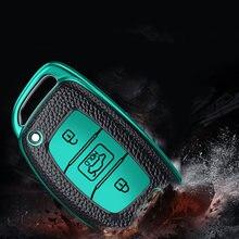 Кожаный ТПУ автомобильный брелок для ключей с полным покрытием чехол кожаная сумка оболочка брелок для ключей для Hyundai IX25 IX35 ELANTRA Verna Sonata TUCSON