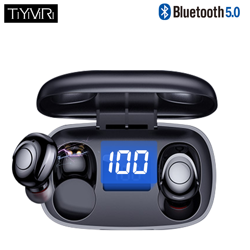 TWS <font><b>Bluetooth</b></font> <font><b>5.0</b></font> Earphones Wireless 6D Stereo In-Ear Active Noise Cancelling Gaming Headset for <font><b>Smartphones</b></font> HIFI Mini image