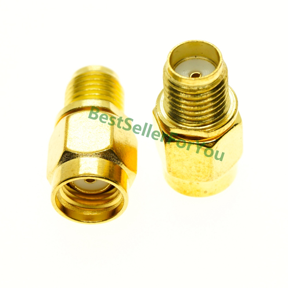 RF SMA Adapter SMA Female To RP SMA Male Plug Connector Adapter Gold Plated Straight Coaxial RF Adapters