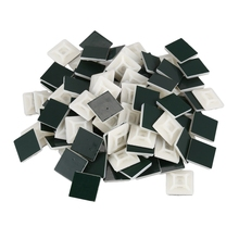 JFBL Горячая 100x1 упаковка Сортировка клейкий кабель провод свинцовый галстук квадратная цокольная панель настенный держатель, 19X19 мм [белый]