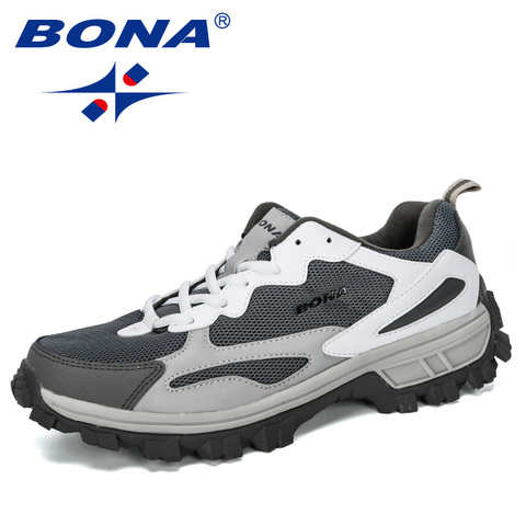 BONA 2019 New Designer Outdoor Men Cow Split Hiking Shoes Men Sport Shoes Trainers Shoes For Men Training Jogging Sneakers Shoes Lahore