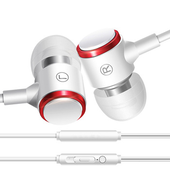Metal Bass Mobile Phone Earplugs In-ear Sports Applicable Millet Wire Earplug Hot Selling