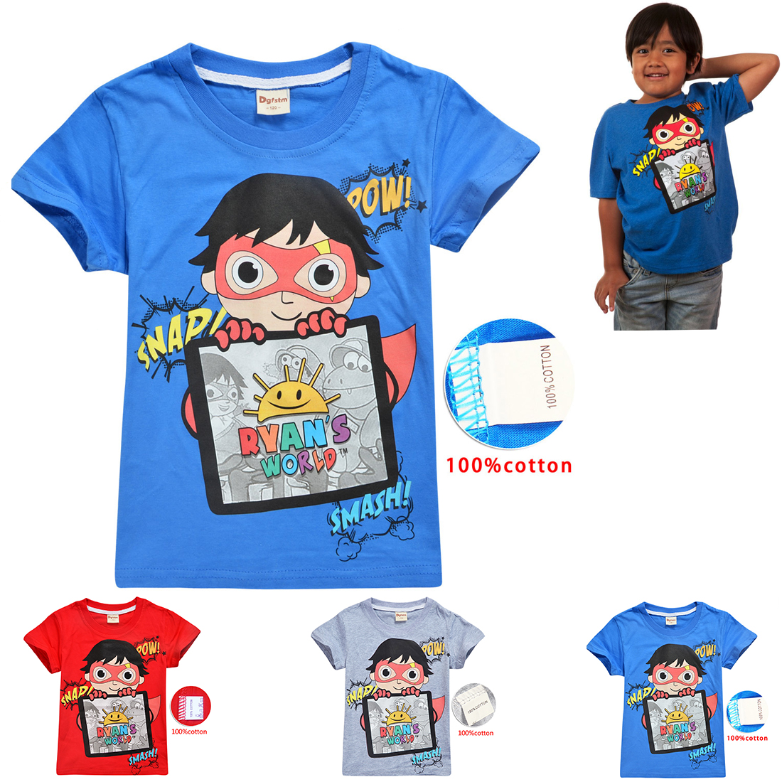 Ryan Toys Review new summer dress boys and girls short sleeve 2 piece set