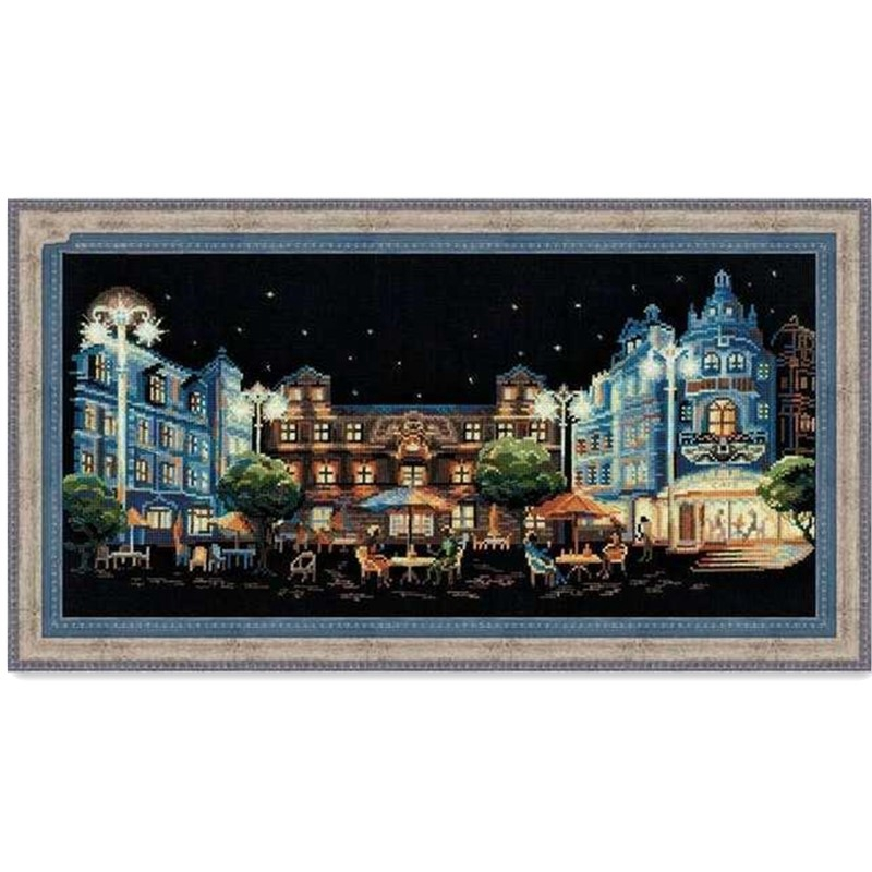Night Cafe cross stitch package sets aida 18ct 14ct 11ct black cloth people kit embroidery DIY handmade needlework Package    - AliExpress