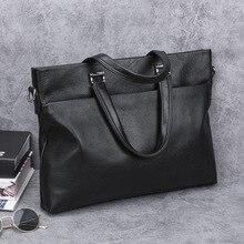 Genuine Leather Men Shoulder Bag Large Capacity Minimalist Shoulder Bag Casual Fashion Bolsos Para Hombre Mens Bag DE50NDJ