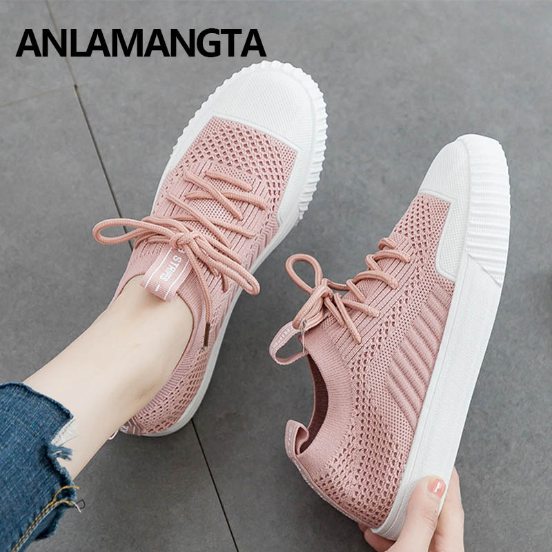 Fashion Shos Women's Falts Spring Casual Shoes Breathable Women Shoes Sneakers Shoes Soft Shoes Lace Up Casual Sneakers New