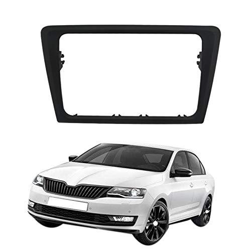Painel de rádio do carro fascia estéreo painel quadro traço montagem kit adaptador guarnição moldura fáscia para skoda rapid 2013