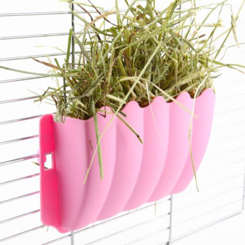 Pet Food Container Pet Feeder Hay Food Feeder Bowls Manger Rack For Rabbit Guinea Pig Chinchilla