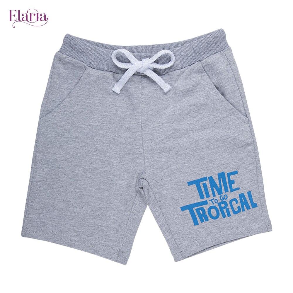 Elaria Shorts ESb-10-1 shorts for boys print lacing patterns children's clothing boys geometric print shorts