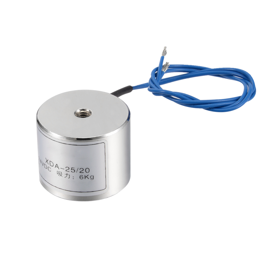 Uxcell 25mm X 20mm DC24V 0.1A 2.4W 60N Sucking Disc Solenoid Lift Holding Electromagnet