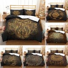 Набор постельного белья с 3d рисунком в богемном стиле бронзовым