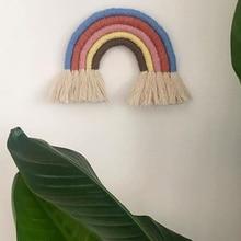 XL DIY Handmade Nordic Rainbow Ornaments Hand-Woven Hanging Childrens Room Decoration Ornament Colorful Craft Art Pendant