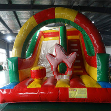Customized  4.5 meters high commercial grade jungle inflatable slide for sale free shipment by sea discount 500x500mm 20x20 silicone rubber sheet high temp commercial grade free shipping to many countries