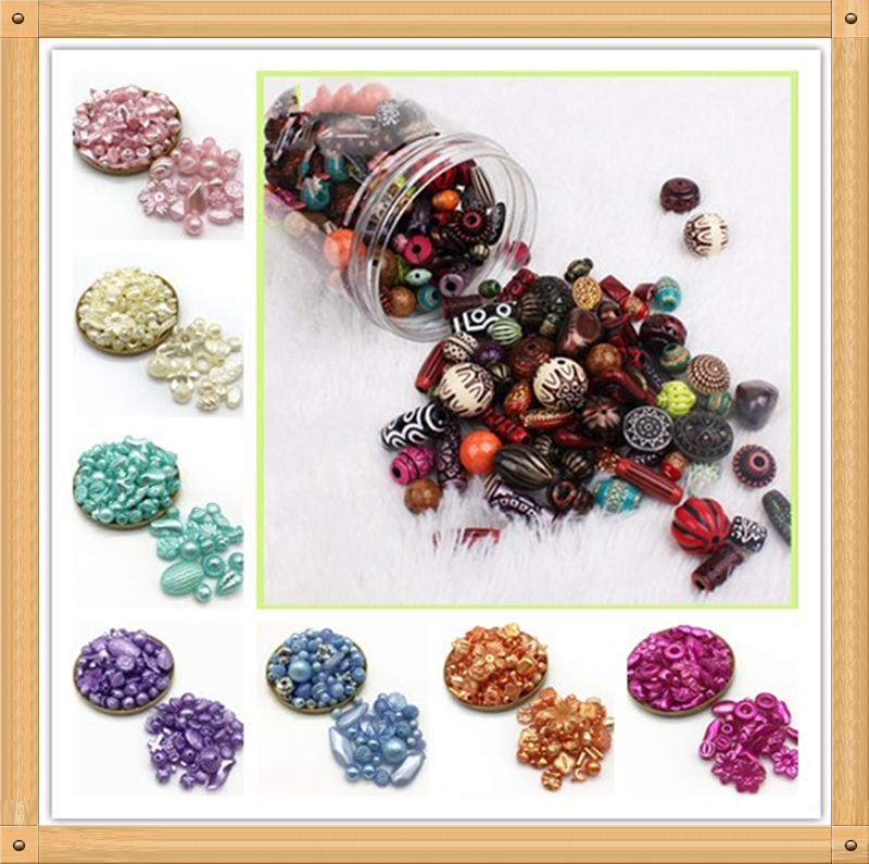 Wholesale 20g Random Acrylic Beads Mixing Beads Style For DIY Handmade Bracelet Jewelry Making Accessories