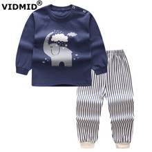 купить VIDMID Baby boys Clothing sets Long Sleeve t-shirts boys Clothes Sets casual cotton Kids Clothes for boys children's sets 4051 по цене 395.35 рублей
