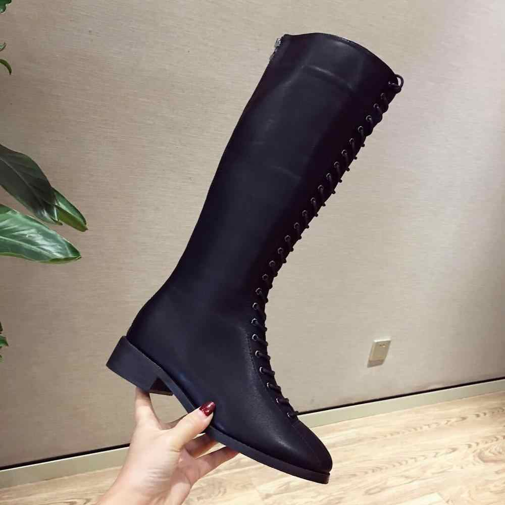 2019 hiver nouvelle mode sauvage peau mince avec Martin bottes femme britannique vent plus velours bottes hautes femmes bottes