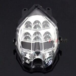 Image 4 - LED ضوء الفرامل الذيل للانتصار سرعة الثلاثي 675/R دايتونا 13 16 ، الشارع الثلاثي S 765 17 18 دراجة نارية المتكاملة الوامض مصباح