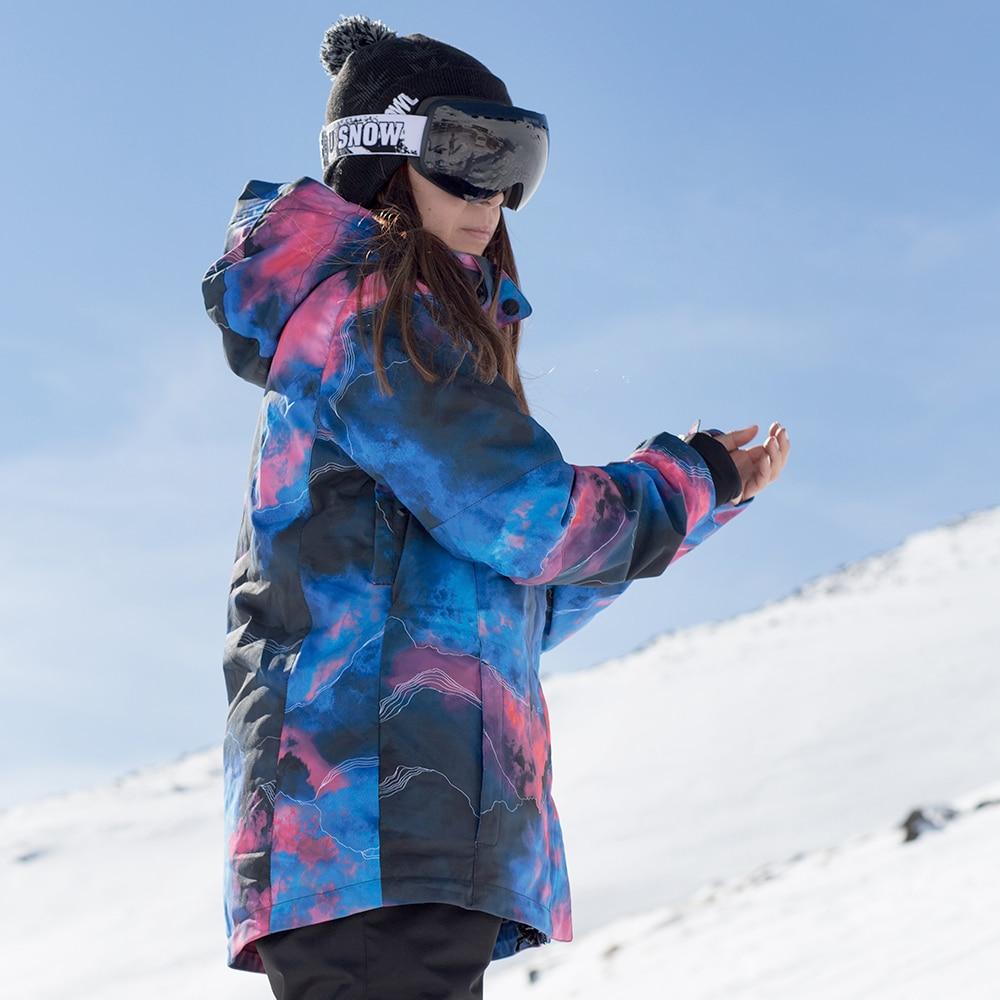 SMN femmes veste de Ski hiver chaud en plein air Sport vêtements coupe-vent imperméable Ski snowboard veste manteau de neige