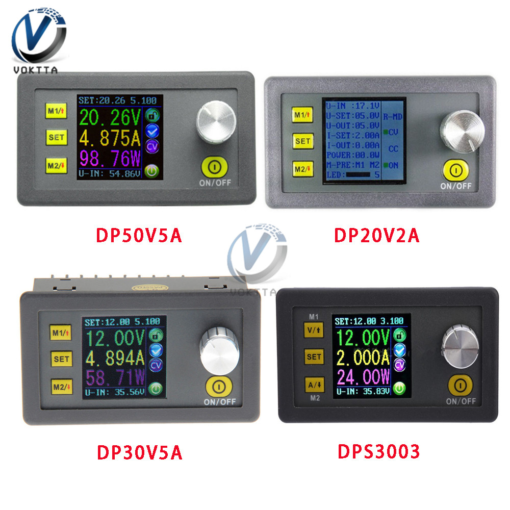 DP50V5A Constant Voltage Current Step-down Programmable Power Supply Module Color LCD DPS3003 DP30V5A DP20V2A Buck Converter