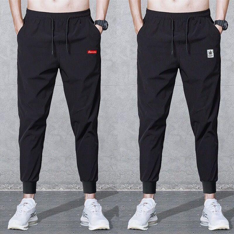 2019 Spring Casual Slim Fit Pants Men Sweat Pants Stripe Male Cotton Sportswear Casual Trousers Straight Pants Hip Hop Street