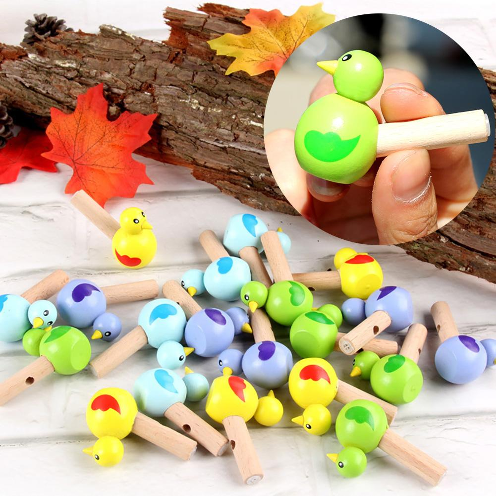 1 PC Kids Whistle Toy Cute Mini Colorful Drawing Bird Model Whistle Musical Instrument Education Kids Toy