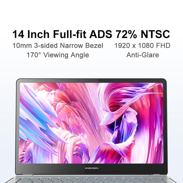 "Laptop MAIBENBEN JinMai 6 S480 [14""FHD, 72% NTSC, intel N4100, Backlit keyboard] 1 year warranty,Portable 2"
