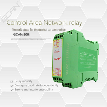 CAN bus repeater and multi-channel CAN hub are used to extend CAN communication distance. CANbus isolator  industrial grade. can network expansion can isolation repeater series 2 galvanic isolation can bus interface