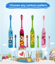 子供漫画ソニック電動歯ブラシ口腔衛生歯ケア歯ブラシ子供バッテリ電源ブラシ