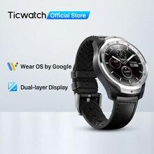 TicWatch Pro 512Mb reloj inteligente de los hombres desgaste OS para iOS Android NFC pago construido en GPS impermeable Bluetooth Smartwatch