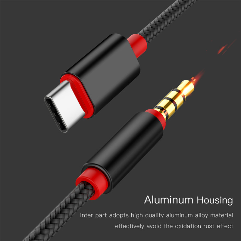 USB Male Audio Jack AUX Cable Converter for Cellphone PC Headphone Type-C To 3.5mm Cable Adapter 3.5 mm Jack Speaker TXTB1