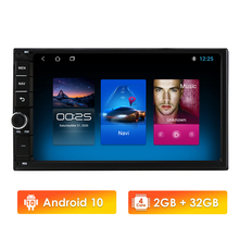 Radio con GPS para coche, reproductor Multimedia con Android 10, 2 GB, 32 GB, cuatro núcleos, doble 2 Din, Universal, SIN DVD