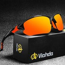 Viahda Nieuwe Brand Design Gepolariseerde Zonnebril Men Driving Shades Mannelijke Zonnebril Voor Mannen Spiegel Goggle UV400