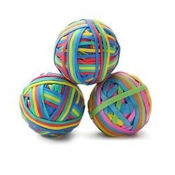 TOR Color ful прочная эластичная резиновая лента, петля 100 г, школьные канцелярские товары, Офисная Резиновая лента, мяч, супер тянущийся, разные ц...