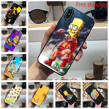 The Simpsons Marge Lisa Himself New Phone Case USA Classic Black Tpu Soft Cover for iPhone 11 Pro Max 6 7 8plus 5S X XS XR XSMax
