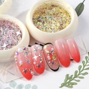 Image 5 - UR ZUCCHERO Star Glitter Per Unghie Paillettes Argento Colorato Brillante Unghie Artistiche Decorazioni Per Il Salone di casa Fai Da Te