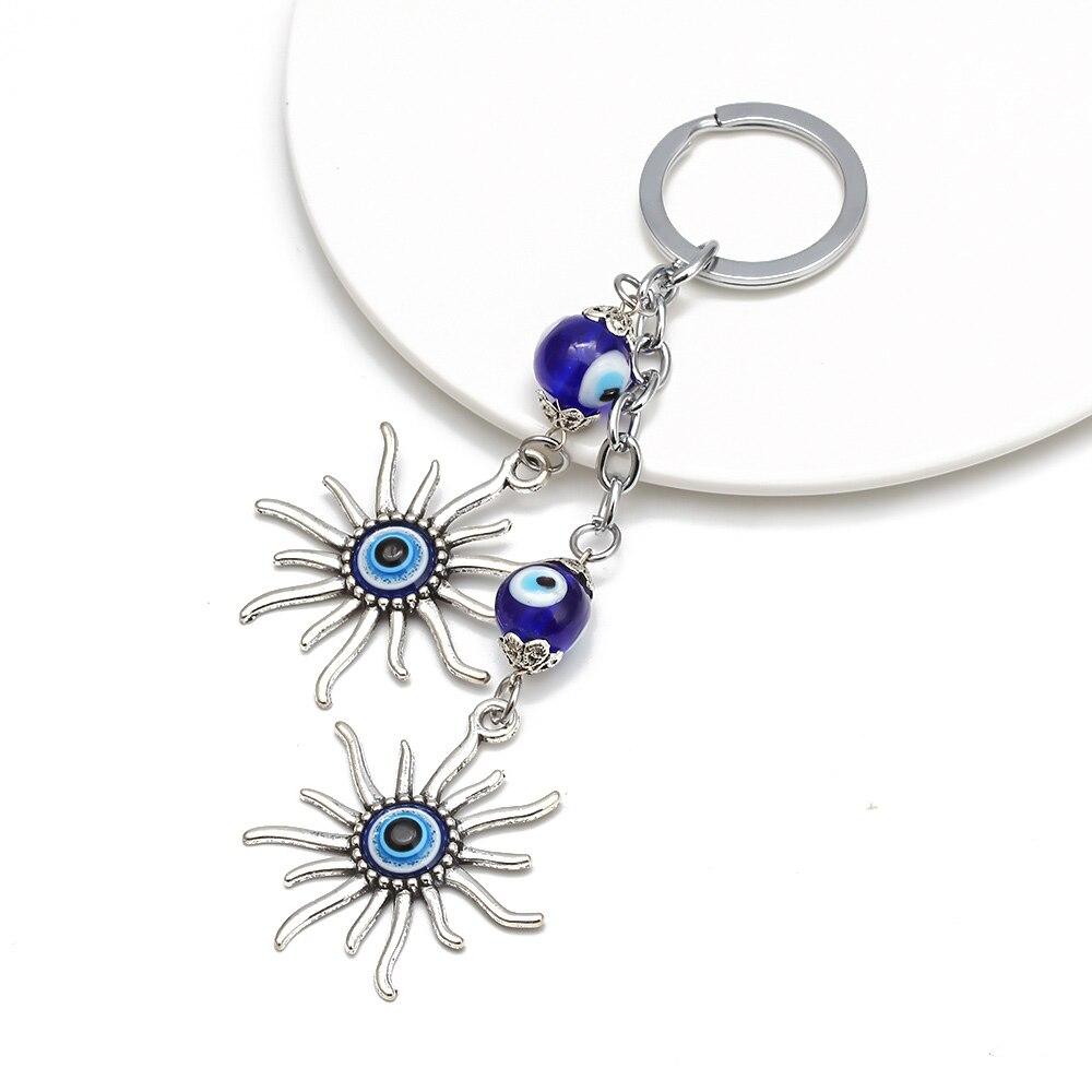 Llavero Sun Llavero Evil Eye Bead Lucky Gift Accesorios de joyería - Bisutería - foto 2