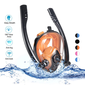 New Diving Mask Scuba Mask Underwater Anti Fog Full Face Snorkeling Mask Women Men Kids Swimming Snorkel Diving Equipment 2 Tube new diving mask scuba mask underwater anti fog full face snorkeling mask women men kids swimming snorkel diving equipment 2 tube