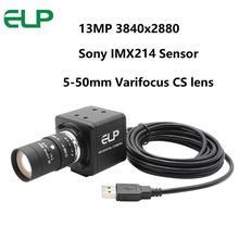 Cámara web USB de 13 megapíxeles 3840x2880 mini PC Webcam cámara USB con lente Varifocus de 5 50mm para PC Skype, grabación de videollamadas