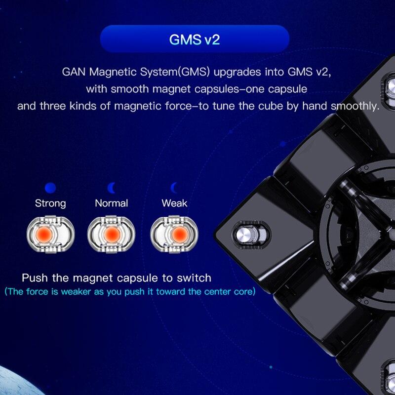 Cube Gan GAN356 X S magnétique magique cube de vitesse GAN356XS professionnel gan 356 XS aimants Puzzle Cube Gans cubes - 3