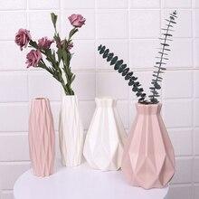 Origami Vases Imitation Ceramic Flower Pot Basket Tabletop Plants Home Decoration Bonsai Decor Flower Arrangement Container