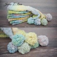 Jane Z Ann/Милая шапка для новорожденных; цвет радуги; реквизит для детей; аксессуары для студийной фотосъемки