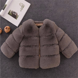 Image 5 - Girls Fur Jacket for Children Tops Clothes 2020 New Baby Kids Jackets Warm Thicken Coat Solid Color Boys Faux Fur Outwear Coat