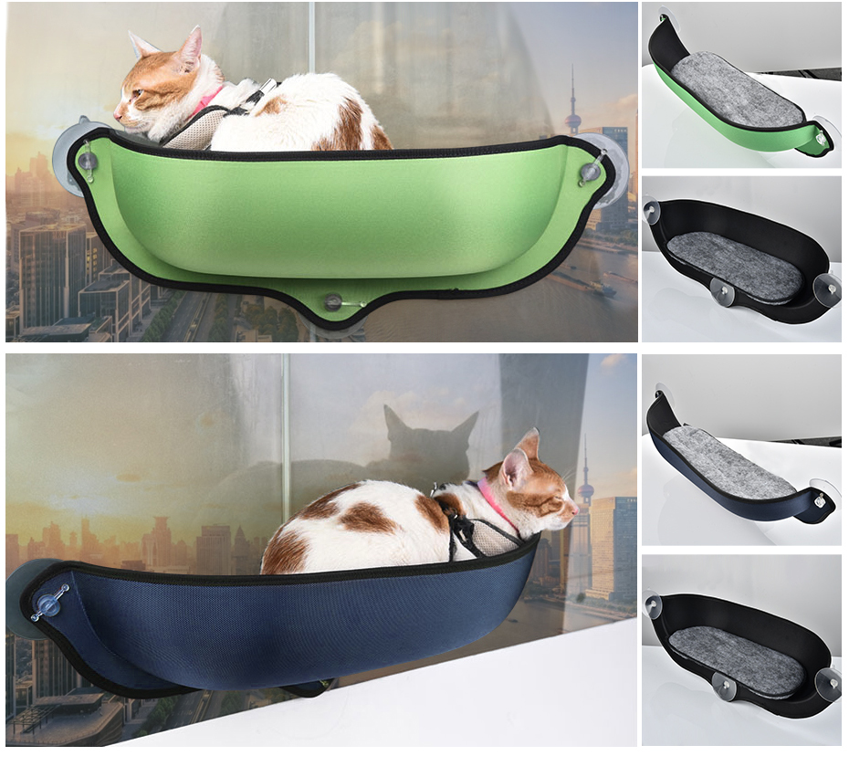 Cat Window Hammock With Strong Suction Cups Pet Kitty Hanging Sleeping Bed Comfortable Warm Ferret Cage Cat Shelf Seat Beds Cats & Dogs Pet Beds, Mats & Houses