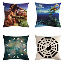 Pillow set of 12 constellations Throw Cushion Cover Car Home Sofa Decorative Pillowcase Christmas Decorations